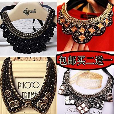 Generic decorated women girl short _paragraph_ fashion _exaggeration_false_ collar clothing accessories Korea diamond pendant necklace clavicle fashion