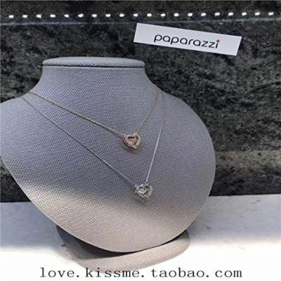 Generic Dongguk_door_ 2018 hot _explosion_ models sweet temperament Double peach heart necklace pendant