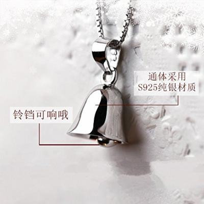 Generic 21_ lovely bell jewelry clavicle short _paragraph_ women girl new _business_ sterling silver necklace pendant fine Cute fashion