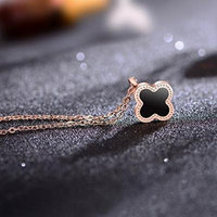 Generic Korean simple handmade retro _red_string_ necklace pendant luminous _Clover_Clover_ couple gifts _for_ boys _and_ girl s