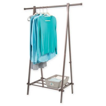 Bronze A-Frame Garment Rack with Shelf