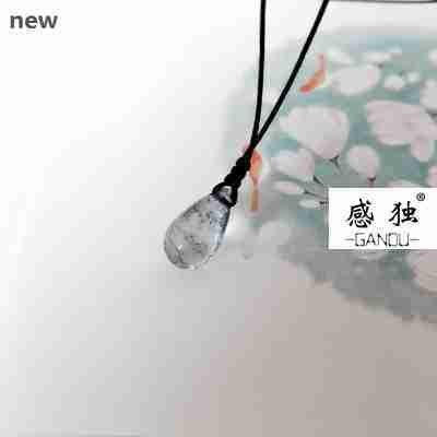 Generic _Muzhu_Cancer_elderly_ black pearl little girl _is_old_ silver _opal_ necklace pendant heart beat_fresh_clouds