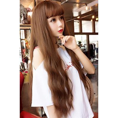 Generic Girl wig long_curly_water_ripple_corn_hot_air_Liu_Hai_Long hair cute,_sweet long_curls