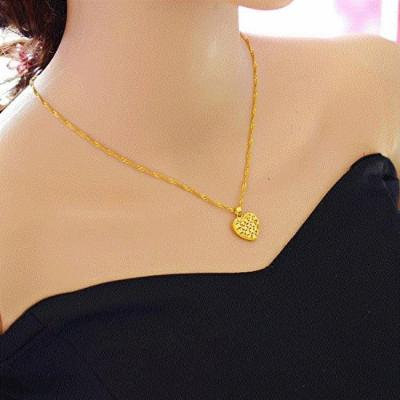 Generic 999 _alluvial_ gold _coins_ Europe _does_not_fade_ Ms. _nude_ models pendant necklace fine gold-plated collar bone
