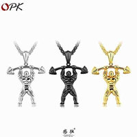 Generic accessories retro lettering Europe _and_muscle_fitness_product_ pendants men man boy _strong_weightlifting_bodybuilding_disabilities_ fashion necklace pendant steel