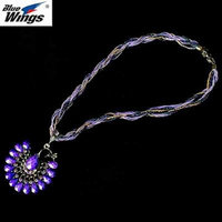 Generic 2018 European _and_ American retro _Yunnan_national_wind_ color Peacock necklace pendant short sweater chain ornaments _funds_approved_Tanabata_ gift