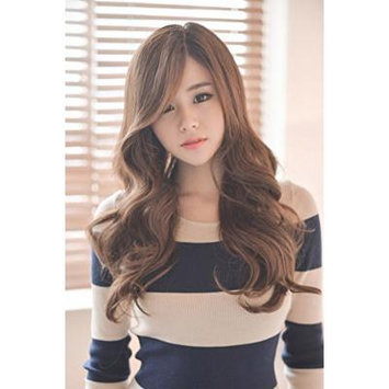 Generic In_a wig of_long_curls waves_in fluffy_long_top wigset