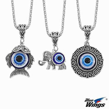 Generic The_ new _Japanese_and_ Korean women girl couple necklace pendant necklace Cute _elephant_fish_geometric_ pendants clothing accessories _gossip_blue_eyes