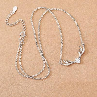 Generic Valentine's gift necklace pendant temperament fashion simple _literary_ s925 sterling silver chain clavicle Korean _version