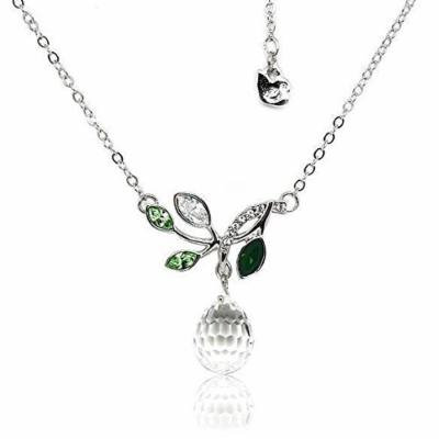 Generic Austrian_ crystal necklace pendant Korean women girl _olive_ green _Ying_dream_ girls short _paragraph_ clavicle _992_667