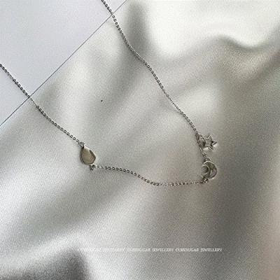 Generic _ exquisite sterling silver necklace pendant short _paragraph_k_ie_visual_sense_ collar _knock_ flash _ultra-fine_ chain clavicle chain _925