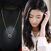 Generic s925 silver lovely strawberry pendant necklace women girl chain clavicle simple sweet Korean students _tide_ fashion birthday