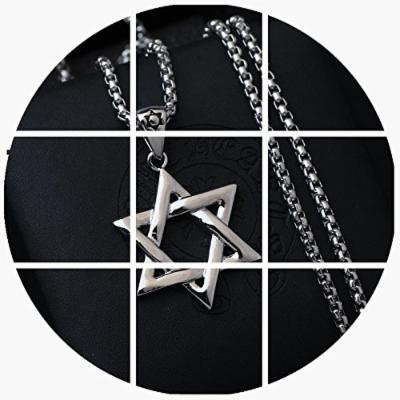 Generic Japan_and_South_ Korea simple _hexagram_ jewelry pendant necklace Ms. men man boy _and_I'm_a_singer_Zhang_Jie_Lu_Han_Wu_Yifan_same_paragraph