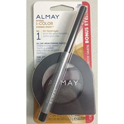 ALMAY INTENSE I-COLOR EVENING SMOKY FOR HAZEL EYES WITH BONUS EYELINER #155 by Almay