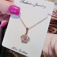 Generic 2018 Ms. short _paragraph_ clavicle chain rose gold pendant necklace _Japan_and_South_ Korea _with_a_ new fashion
