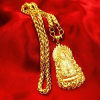 Generic European gold _coins_ popular wedding gifts _for_ men man boy _lasting_not_fade_alluvial_ gold jewelry necklace pendant _with_Vietnam_Guanyin_Dragons