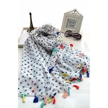 Generic flow small_stars,_sunscreen_shawl_ Scarf shawl