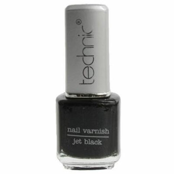 Technic Nail Varnish Polish - JET BLACK 15ml by Technic