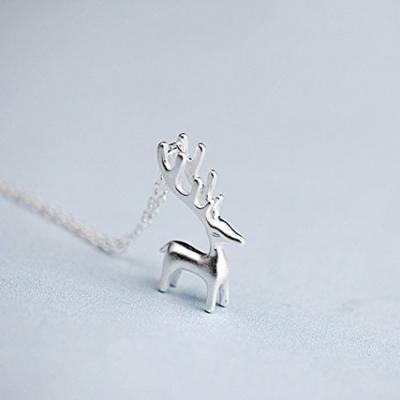 Generic Wealth_/_Health_/_Fluke_queen_Nanjixianweng_horse_ White _Deer_ silver necklace pendant 925 _|_woman