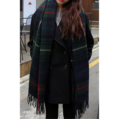 Generic new_stream Korean_hit_color_grid_ Scarf shawl