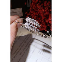 Generic 925_Pure_ silver _Leaf_openings_ bracelet bangle s
