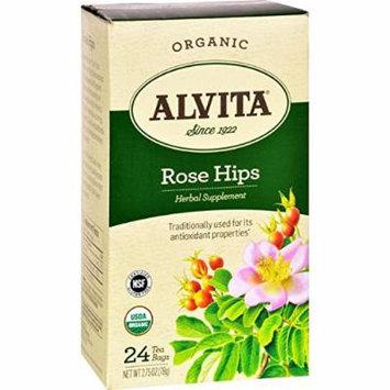 Alvita Organic Rose Hips Herbal Tea Bags, 24 Count by Alvita