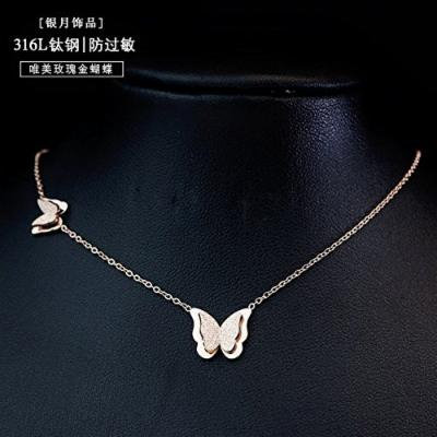 Generic Ms. rose gold pendant necklace Korean temperament simple fashion personality _of_ students _winnings_ butterfly clavicle
