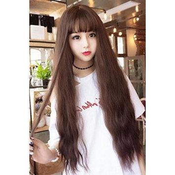Generic Girl wig long_curly_water_ripple_corn_hot_air_Liu_Hai_Long hair cute,_sweet long_curls_thin_rattan_Color