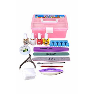 Generic Nail _tool_kit_wholesale_starter_full_set base_Trim_Care_ Nail manicure nail art Tips _Kit_Supplies