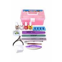 Generic Nail _tool_kit_wholesale_starter_full_set base_Trim_Care_ Nail manicure nail art Tips _Kit_Supplies