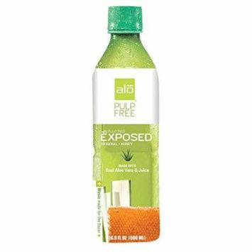 Alo Pulp Free Exposed Aloe Vera Juice Drink - Original and Honey - Case of 12 - 16.9 fl oz.