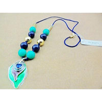Generic Korean _invesent_goods_manufacturers_inventory_ lovely big green leaf necklace pendant
