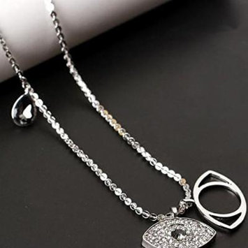 Generic Demon_eyes_ fashion women girl fashion chain sweater _trend_ exquisite Korean fashion temperament models _hypoallergenic_ necklace pendant