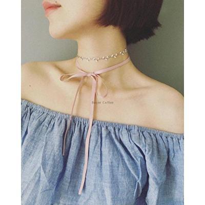 Generic Canadian_ design er_olive_branch_k_ribbon_ necklace pendant collar _4_ color _options