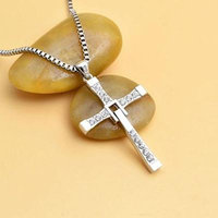 Generic The_speed_with_Toledo_ men's cross necklace pendant _free__glossy_ lettering gift _of_passion