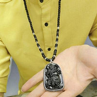 Generic National_Wind_ retro fashion _Guan_ pendant necklace men man boy _domineering_ personality long _paragraph_ sweater chain accessories hanging _decorations