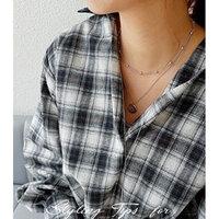 Generic Korean fashion _uprising_ 2018 autumn new elegant women girl _overlapping_ design necklace pendant _715_192