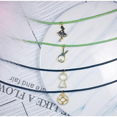 Generic s925 silver 18k _fairy_tale_series_Mr._Jin_rabbit_key_ collar necklace pendant collar girls fashion style _decoration