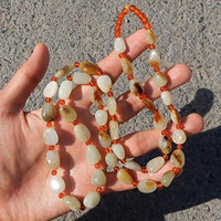 Generic Preferential_698_yuan_ fine _Xinjiang_and_Tianyu_Yu_ Rhinestone _Gympie_ White jade _material_of_the_ original Rhinestone necklace pendant