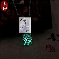 Generic luminous Rhinestone pendant necklace men man boy _and_ women luminous _glowing_ pearl chain clavicle couple girl friends_ creative _novelty_ birthday gift