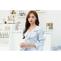 Generic Korean fashion rose gold _plated_ simple _Clover_ clavicle chain steel pendant necklace women girl accessories