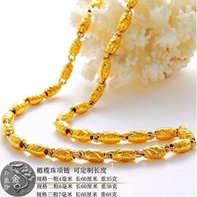 Generic Fake_ gold Beads _crude_olives_?????_more_money_Pa_artificial_ gold _plated_coin_do_not_fade_ necklace pendant men man boy _and_ women