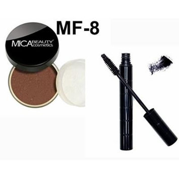 Bundle 2 Items: Mica Beauty Mineral Loose Powder foundation 9 Gram + Itay Mineral Black Mascara for long Lashes (MF-8 DOWNTOWN)
