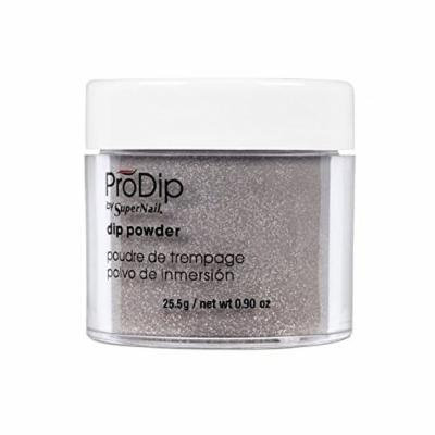 Supernail Prodip Colored Acrylic Dip, Powder Sparkling Pewter, 0.9 Ounce