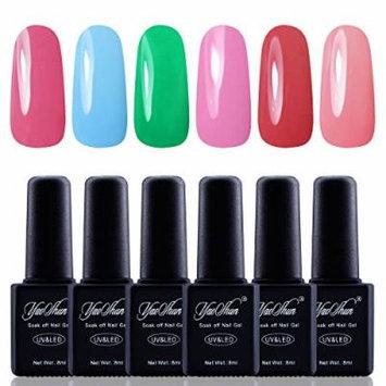 Y&S Gel Nail Polish,Soak Off Gel UV Varnish 6Pcs Sets #004