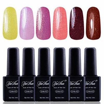 Y&S Gel Nail Polish,Soak Off Gel UV Varnish 6Pcs Sets #022