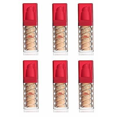 Revlon Age Defying Foundation with DNA Advantage, Golden Tan, 1 Fl Oz (6 Pack) + Makeup Blender