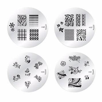 Konad Nail Art Stamping Nail Image Plate - Set of 4 (M60-57-54-51)
