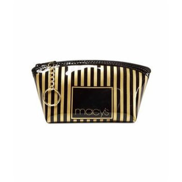 Macy's Striped Makeup Bag, Only at Macy's Black/Gold