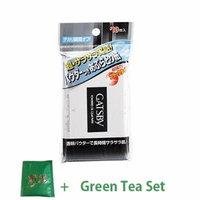 Gatsby Oil Blotting Paper on Powder - 1box for 70pcs (Green Tea Set)